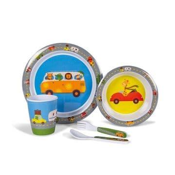 Kampa Dometic Animal Traffic Children's Melamine Tableware Dinner Set
