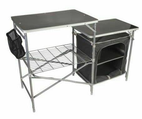 Kampa Dometic Commander Field Camping Kitchen Stand, Camping Table, Storage Units, Camping Kitchen Unit - Grasshopper Leisure