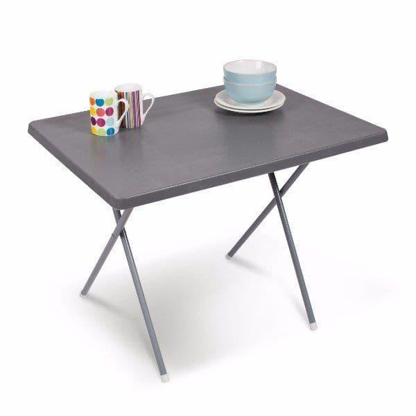 Kampa Dometic Duplex Plastic Table Grey, Outdoor Camping equipment - Grasshopper Leisure