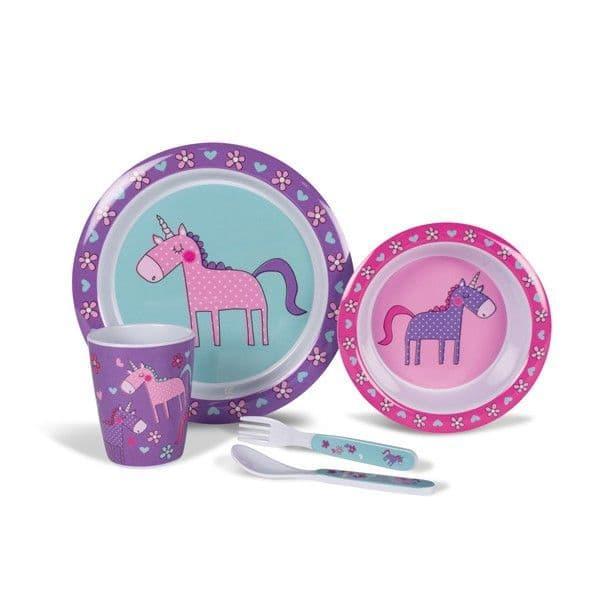 Kampa Dometic Unicorn Children's Melamine Tableware Dinner Set - Grasshopper Leisure