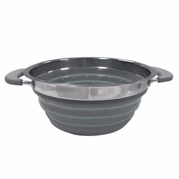 Kampa Folding Colander - Grey Collapsible Camping Colander