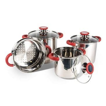 Kampa Space Saver Deluxe Saucepan Cook Set
