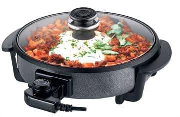 Leisurewize Camping  Multi Function NonStick Electric Cooking Pan Cooker Skillet