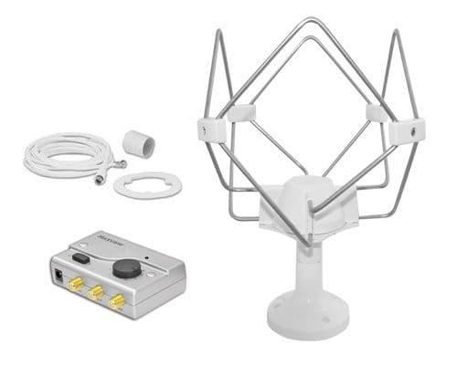 Maxview Omnimax Pro Omni-directional Mobile TV Aerial 12/24V - White / Grey,  TV Satellite for caravan and motorhome - Grasshopper Leisure