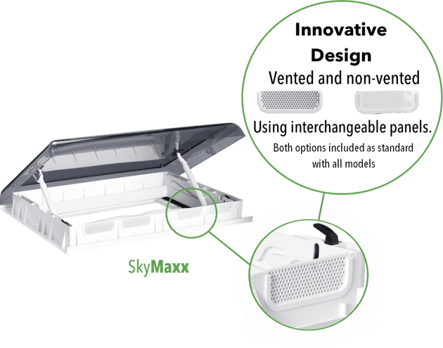 Maxxair Skymaxx LX Rooflight Vent 42-60mm, for Caravan Campervan Motorhome - Grasshopper Leisure
