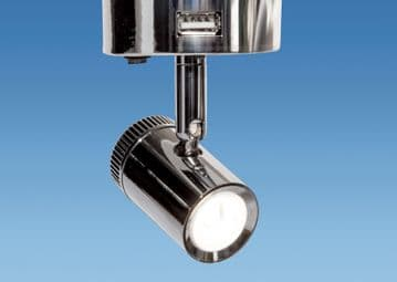 Mensa Switched 12 Volt LED Dimmable Spotlight With 2 x USB