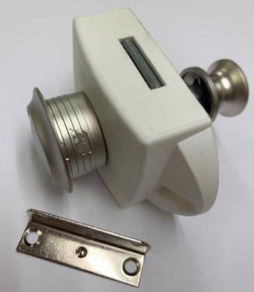 Nickel Push Button Bathroom Toilet Door Catch