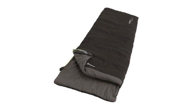 Outwell Celebration Lux Black Single Sleeping Bag 230360, Camping Sleeping Bag - Grasshopper Leisure