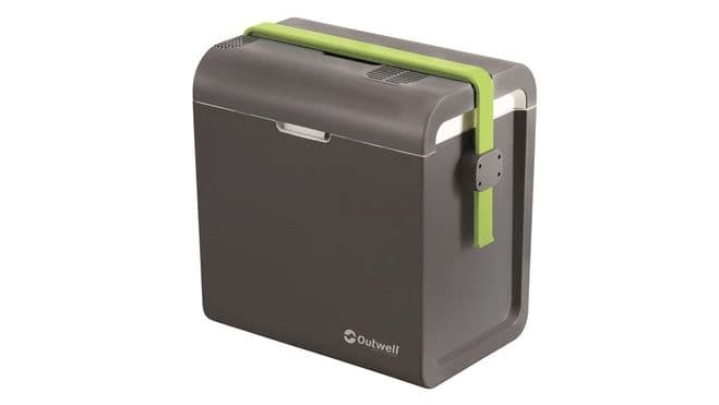Outwell ECOcool Grey 24L Coolbox - 12V/230V - Grasshopper Leisure, Camping & Fishing Coolboxes - Grasshopper Leisure