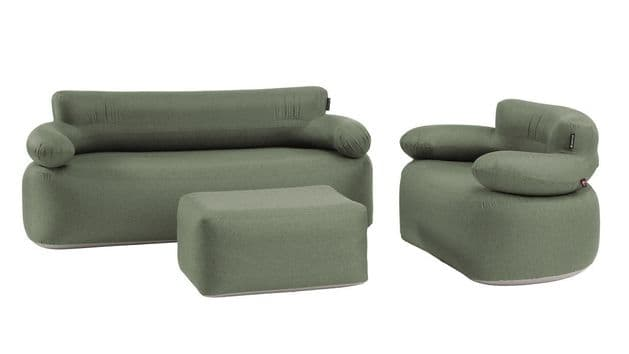 Outwell Laze Inflatable Sofa, Chair And Ottoman Set 470422 - Grasshopper Leisure