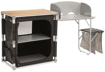 Outwell Padres Kitchen Table with Bamboo Table Top and Side Unit