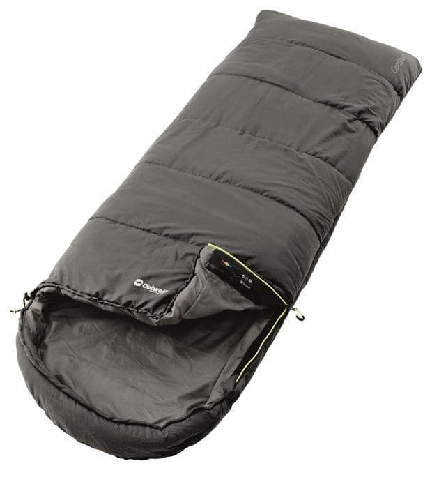 Outwell Sleeping bag Campion Grey, Camping Sleeping Bags - Grasshopper Leisure