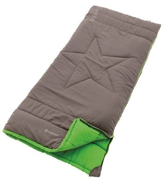 Outwell Sleeping Bag Champ Kids Rock Grey, Children Camping Sleeping Bag - Grasshopper Leisure