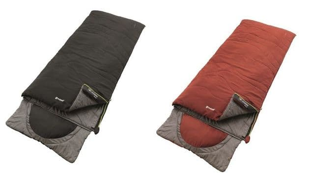 Outwell Sleeping bag Contour Midnight Black & Ochre Red, Camping Sleeping bags - Grasshopper Leisure