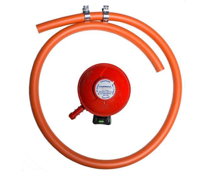 Gas Regulator & Hose Set - 37MBAR PROPANE Clip On, Gas equipment for Campervan, Caravan & Motorhome - Grasshopper Leisure