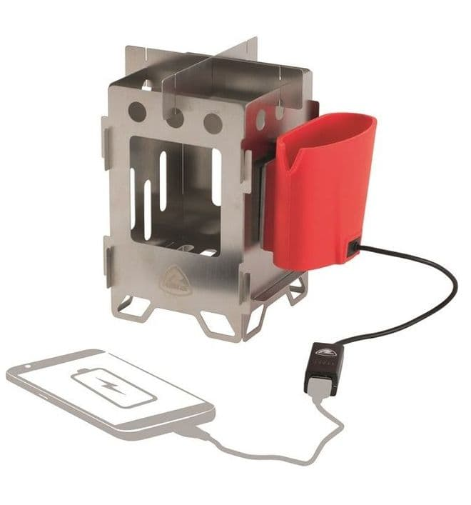 Robens Woodsman Stove & Charger, Portable Camping stove - Grasshopper Leisure