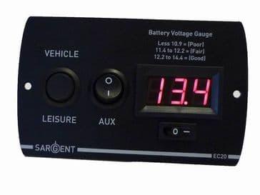 Sargent EC20 Battery Voltage Gauge Digital Control Panel