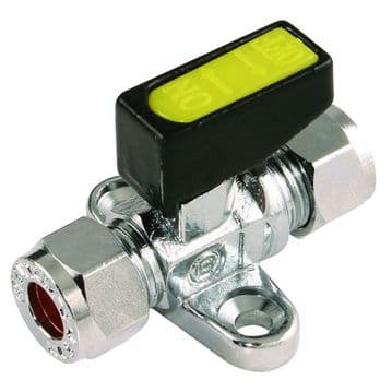 Single Gas Tap (8mm) With Foot Plate