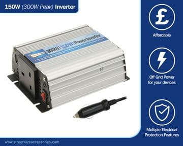 Streetwize 150 Watt 12v - 240v Power Inverter With USB Socket