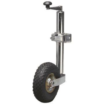 Streetwize 48mm Pneumatic Jockey Wheel & Clamp - Heavy Duty Trailer / Caravan
