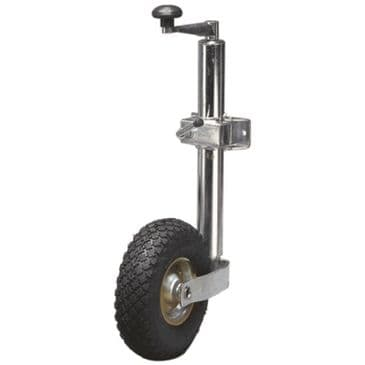 Streetwize 48mm Pneumatic Jockey Wheel & Clamp - Heavy Duty Trailer / Caravan