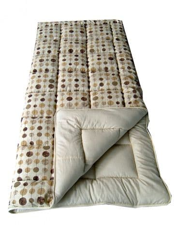 Sunncamp Beige Baubles Super King Single Size Sleeping Bag