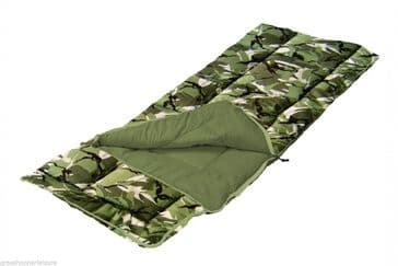 Sunncamp Junior Sleeping Bag - Camouflage- With/ Without Pillow