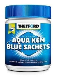 Thetford Aqua Kem Sachets in a tub