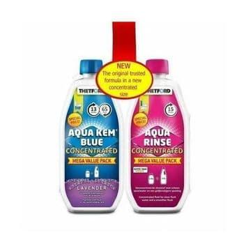 Thetford Duo Pack Concentrated - Aqua kem Blue (Lavender) & Aqua Rinse