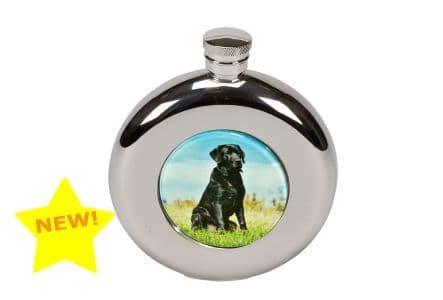 Boxed 4.5oz Round Labrador Flask by Bisley at Gundog Gear