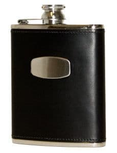 Black Leather Flask by Bisley at Gundog Gear
