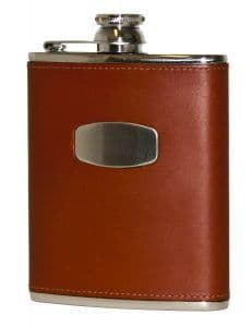 Brown Leather Flask by Bisley at Gundog Gear