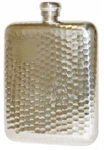 Bisley 6oz Hammered Pewter Flask