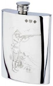 Shooter Pewter Flask by Bisley at Gundog Gear