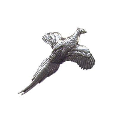 Pewter Pin - Small Pheasant