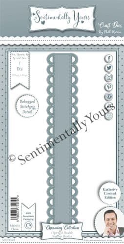 Charmed Double Scallop Border Die