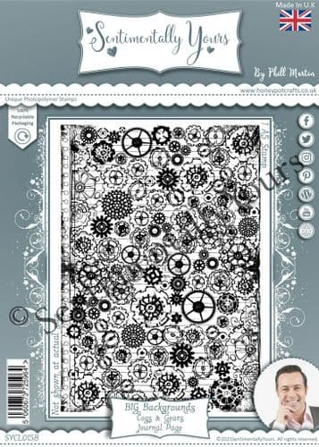 Cogs & Gears Journal Page BIG Background