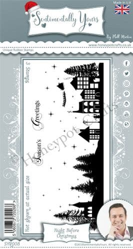 DL Silhouette - Night Before Christmas Stamp Set
