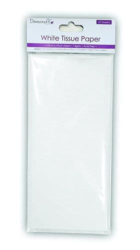 Dovecraft White Tissue Paper - 10 Pack