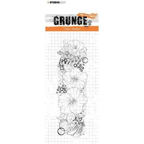 Grunge Hibiscus Clear Stamp