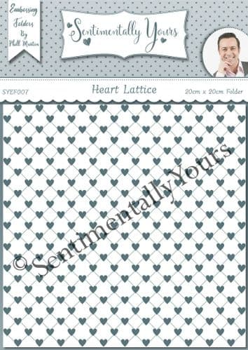 Heart Lattice 8 x 8 Embossing Folder