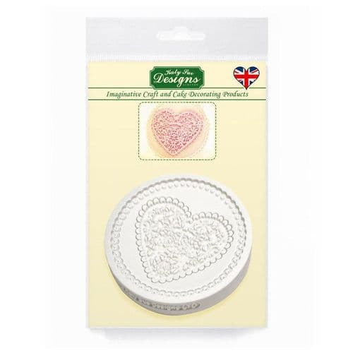 Lace Heart Silicone Mould