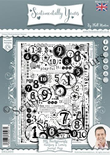 Numbers & Letters Journal Page BIG Background