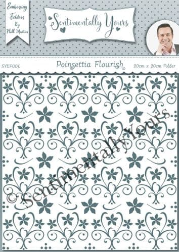 Poinsettia Flourish - 8x8 Embossing Folder