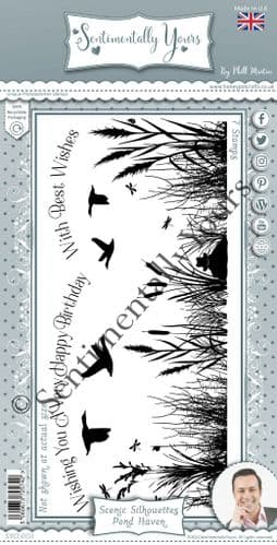 Pond Haven Scenic Silhouette Stamp Set