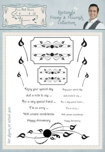 Rectangle Frame and Flourish Collection A5 Stamp Set
