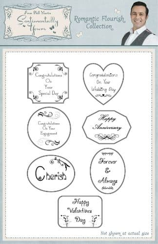 Romantic Flourish Collection A5 Stamp Set