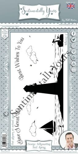 Sail Away Scenic Silhouette Stamp Set