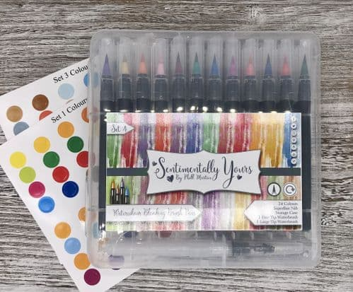 Watercolour Brush Blending Pens (24) - Set 4