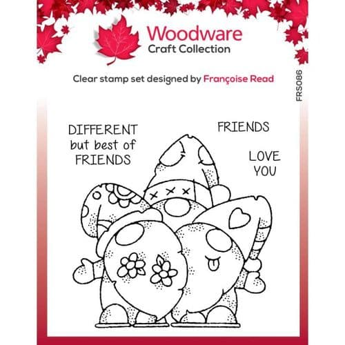 Woodware Clear Stamp - Gnome Friends